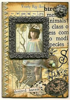 Nostalgic Collage': Frame It - Desired Haven ATC