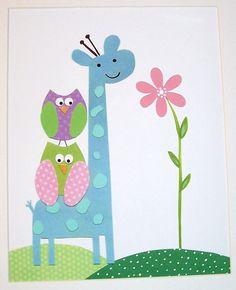 Image detail for -Nursery Art, Baby Girl Room Decor, Kids Wall Art, Children's Room . Owl Nursery Decor, Baby Girl Room Decor, Nursery Artwork, Baby Room Art, Childrens Room Decor, Giraffe Nursery, Baby Art, Nursery Room, Kids Prints
