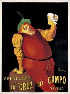 ¿Quéreis ver un póster antiguo de Cruzcampo? el maestro #Cappiello hizo esto... Vintage Advertising Posters, Vintage Advertisements, Vintage Ads, Vintage Posters, Beer Poster, Pin Up, Beer Brewery, Old Ads, Vintage Recipes