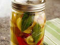 Pickled Green Tomatoes recipe from Michael Symon via Food Network
