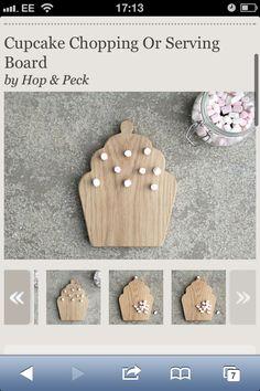 Cupcake chopping board from notonthehighstreet