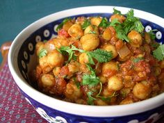 moroccan chickpea tagine by devilandmouse, via Flickr...dinner last night, served with pearl couscous...caitlin devoured it.