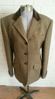 Beautiful Classic Women's Ralph Lauren Wool Silk Tweed Riding Jacket Velvet Collar sz 6 EUC #RalphLauren #Blazer $39.99 with Free Shipping :)