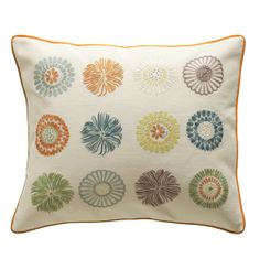 Neisha Crosland for Chelsea Textiles - Embroidered cushion - Flora