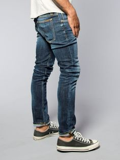 Tight Long John Organic Calm Blues - Nudie Jeans Co Online Shop