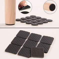 Hot Selling Self Adhesive Furniture Leg Feet Non Slip Rug Felt Pads Anti  Slip Mat Soft Close Fittings For Chair Table EQA697 | Furniture Parts |  Pinterest ...