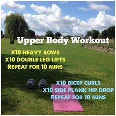I completed this workout in the park today #getmoving