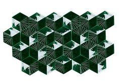 Azulejo tridimensional de cerámica MONDEGO by Mambo Unlimited Ideas
