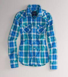 AE Plaid Western Shirt