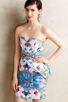 Florascope Peplum Dress #anthropologie #anthrofave