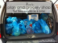 how to plan and grocery shop for two weeks of meals at a time