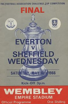 Everton come from two goals behind to beat Sheffield Wednesday with a double from Mike Trebilcock and a winner from Derek Temple. Sheffield Wednesday Football, Challenge Cup, Goodison Park, Liverpool History, Fa Cup Final, Everton Fc, Football Program