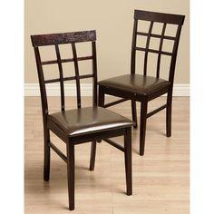 AQUALINK NEVADA, LLC Justin Bi cast Leather Dining Room Chairs (Set of 2) - AQUALINK NEVADA, LLC
