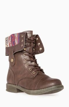 Tribal Lined Leather Boots