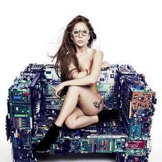 Gaga Strips In Artwork For New Single