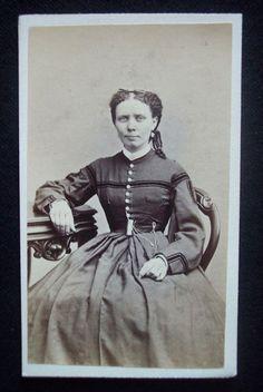 American Civil War era CDV 1860's photograph & tax stamp Lawrence Massachusetts