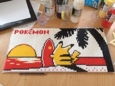 Pikachu - Pokemon perler beads by QueenChalo