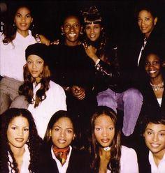 The Black Girl Coalition Press Conference (1992)  Gail O'Neill,Bethann Hardison,Iman,Peggy Dillard,Tyra Banks,Roshumba Williams, Veronica Webb,Karen Alexander,Naomi Campbell, and Cynthia Bailey