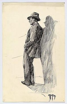 """Man Leaning Against a Wall""  Edward Hopper, 1899"
