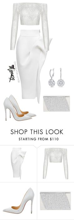 """Issa White Out ~ Styled by @beauty_ninja_styling"" by beautyninjastyling ❤ liked on Polyvore featuring Maticevski, Christian Louboutin and Khirma Eliazov"
