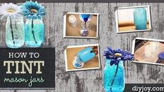 In Just 6 Easy Steps Create Ombre-Tinted Mason Jars   DIY Joy Projects and Crafts Ideas