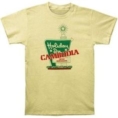 Dead Kennedys Holiday in Cambodia Men's Slimfit T-shirt, Yellow (XX-Large)
