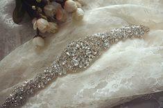 rhinestone bridal applique wedding sash belts crystal by lacetime