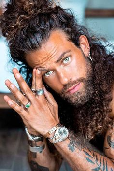 Short Bob Hairstyles, Boy Hairstyles, Viking Hairstyles, Hairdos, Most Beautiful Eyes, Beautiful Men Faces, Hairy Men, Bearded Men, Hair And Beard Styles