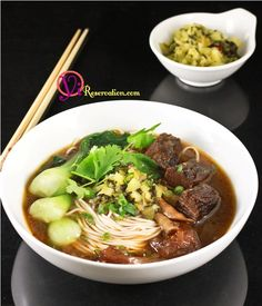 This absolutely delicious Sichuan spicy Noodle Soup is a perfect one bowl meal
