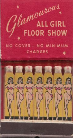 Smoking Hot Floor Show in the Second City! Club Soho Matchbook Chicago Smut