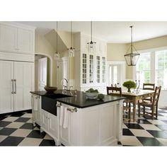 checkered kitchen floor!