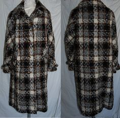 Shop for on Etsy, the place to express your creativity through the buying and selling of handmade and vintage goods. Vintage Coat, Kimono Top, Men Casual, Plaid, Cold, Trending Outfits, Mens Tops, How To Make, Baby