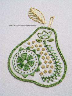 Scandi Fruit Scandinavian hand embroidery от KFNeedleworkDesign