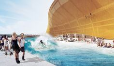 Surfing and climbing wall: This is how crazy the NFL-stadion of Bjarke Ingels is.