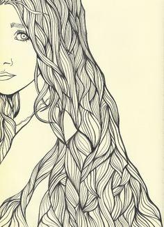 <3 hair line drawings