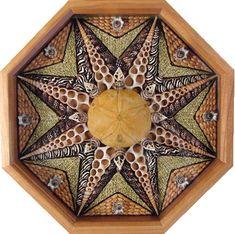 Sailor Valentine seashell mosaic by Suzanne Marie Dietsch.