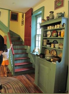 back staircase into the kitchen | house and home | Pinterest