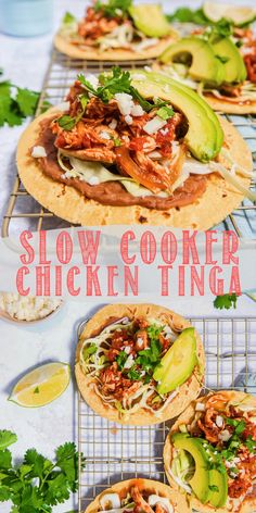 Slow cooked chicken in chipotle peppers, tomato sauce, and onion to create super flavorful shredded chicken. So versatile. chicken This Mexican inspired slow cooker chicken tinga is full of flavor and so versatile! Slow Cooked Chicken, How To Cook Chicken, Shredded Chicken, Pulled Chicken Tacos, Chicken Cooker, Slow Cooker Recipes, Crockpot Recipes, Cooking Recipes, Healthy Recipes