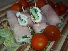involtini di prosciutto cotto e insalata