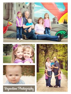 I love the bottom right one.... Family Photography