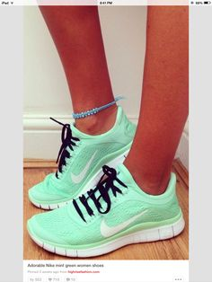 Super cute mint running shoes!!!!