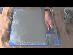How to make concrete floors look like wood - YouTube or turn any surface into a concrete surface!