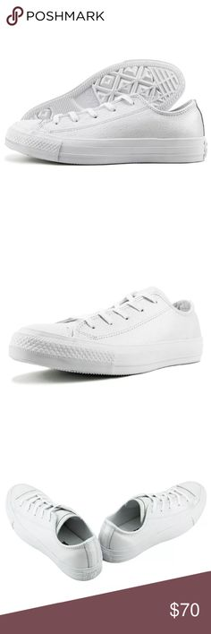 CONVERSE CHUCK TAYLOR ALL STAR OX IRIDESCENT CONVERSE CHUCK TAYLOR ALL STAR OX IRIDESCENT- WHITE WOMEN  BRAND NEW! - size 6 in women. Converse Shoes Sneakers