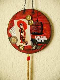 Asian theme altered CD by Steph Dodson (hahawtf) on Flickr
