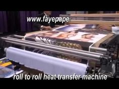 Roll to Roll Heat Transfer Machine for Dye Sublimation