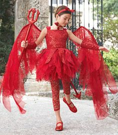 sweet devil girls costume - Only at Chasing Fireflies - You'll have a devil of a time convincing people you have an impish side.