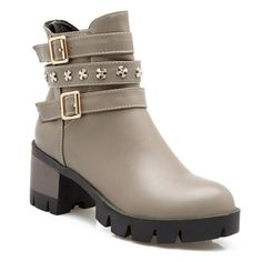 GET $50 NOW | Join RoseGal: Get YOUR $50 NOW!http://www.rosegal.com/boots/metallic-buckle-ankle-boots-705402.html?seid=3185995rg705402