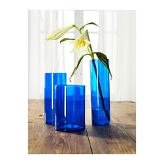 CYLINDER Vase, set of 3 IKEA Can be stacked inside one another to save room when storing. $14.99 per set of 3