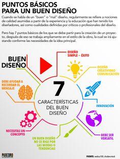 7 características del buen diseño #infografia #infographic #design | TICs y Formación