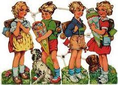 Vintage school children